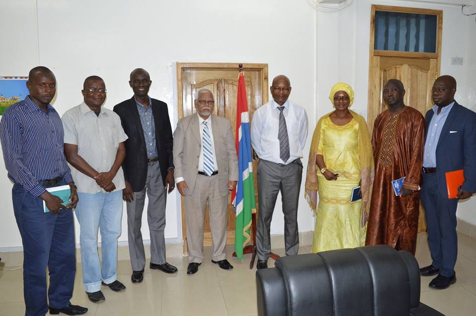 Vice Chancellor Visits Minister of Youth and Sports of the Gambia